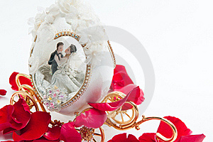 The Wedding Couple In A Carriage. Stock Photo - Image: 20153820
