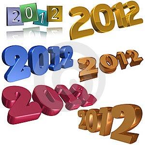 2012 Symbols Stock Photos - Image: 20153923