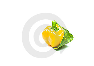 Yellow Sweet Pepper Isolation Stock Image - Image: 20156131