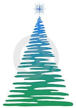 Christmas Fir-tree, Pictogram Stock Photography - Image: 20156172