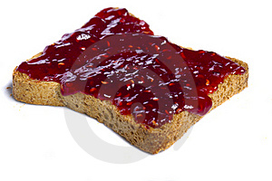 Toasted Bread With Jam Stock Image - Image: 20156861