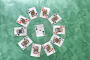 Circle Of Cards Stock Photo - Image: 20161230