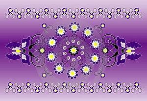 Horizontal Ornament With Iris Stock Photos - Image: 20161503