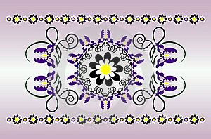 Horizontal Ornament With Iris Royalty Free Stock Photo - Image: 20161555