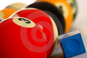 Pool Balls And Chalk Royalty Free Stock Images - Image: 20163249