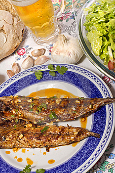 Wahoo Grilled Fish Meal Stock Photos - Image: 20166743