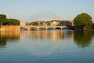 Scenery Of Garonne River And Pont(bridge) De Halag Stock Photos - Image: 20168063