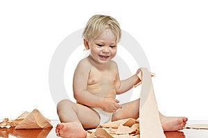 Chłopiec Toaleta Mała Papierowa Obrazy Stock - Obraz: 20169514