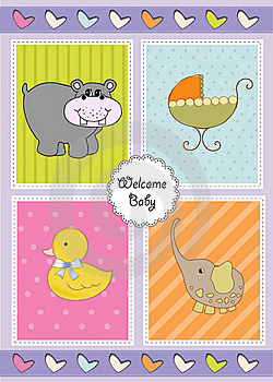 New Baby Shower Invitation Stock Images - Image: 20170744
