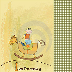 First Anniversary Card Royalty Free Stock Photography - Image: 20170927