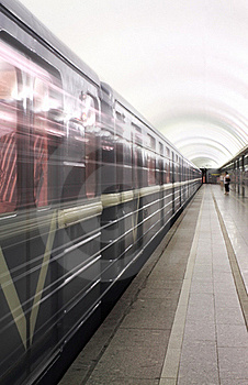 Movement Of Trains In The Subway Stock Images - Image: 20172024