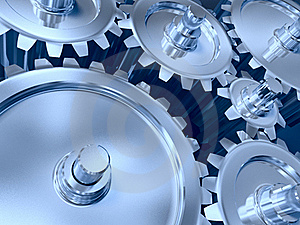 Industrial Gears Set Stock Images - Image: 20172054