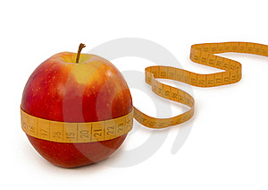 Red Apple And Centimeter Stock Photo - Image: 20172150