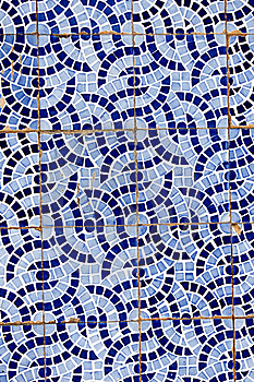 Broken Tiled Wall Royalty Free Stock Images - Image: 20173449
