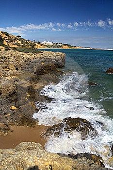 Albufeira Coastline Royalty Free Stock Photos - Image: 20175288