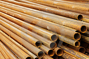 Pipes Stack Round Cut Royalty Free Stock Photo - Image: 20176095