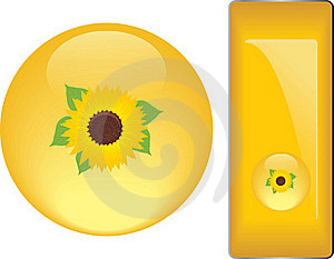 Yellow Buttons With Sunflower Stock Photography - Image: 20176172