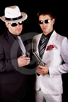 Two Gangsters Stock Photography - Image: 20179082