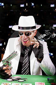 White Suit Gangster Stock Photography - Image: 20179232