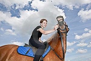 Nice Girl Riding A Hors Stock Photos - Image: 20180713