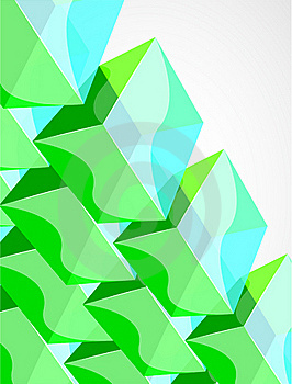 Vector Shiny Transparent Glass Cube Background Royalty Free Stock Images - Image: 20180829