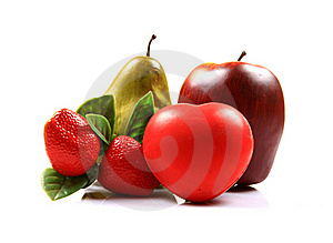 Heart And Fruits Stock Photos - Image: 20186303
