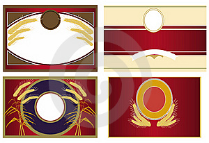 Beer, Wine , Spirits Labels Crests Royalty Free Stock Photo - Image: 20186605