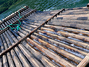 Bamboo Raft Stock Image - Image: 20187861