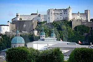 Hohensalzburg Fortress In Salzburg. Austria Royalty Free Stock Photography - Image: 20195427