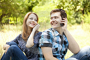 Couple At Outdoor In Summer Time. Stock Photography - Image: 20195842