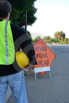 Traffic Worker Stock Photo - Image: 20195860