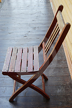 Wooden Garden Chair Stock Photography - Image: 20195972