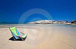 Chair In The Beach Stock Images - Image: 20196394