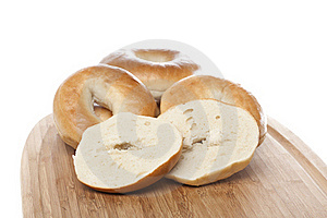 A Fresh Plain Bagel Royalty Free Stock Photos - Image: 20198438
