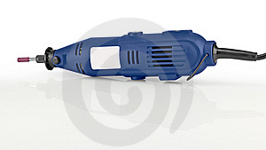 Blue Cordless Drill. Stock Photography - Image: 20198512