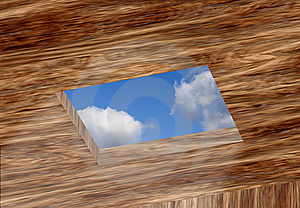 Opening In Ceiling With Sky Stock Photos - Image: 20198563