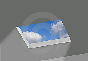 Opening In Ceiling With Sky Royalty Free Stock Photo - Image: 20198565