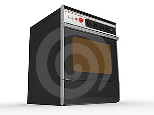 Black Gas Cooker Royalty Free Stock Images - Image: 20199269