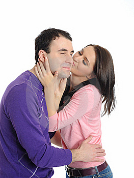 Sweet Young Couple In Love Kissing Royalty Free Stock Photography - Image: 20199707
