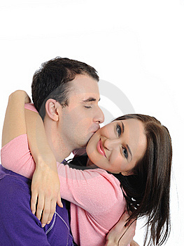 Sweet Young Couple In Love Kissing Royalty Free Stock Images - Image: 20199719