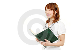 Young Business Woman Holding A Book Stock Images - Image: 20199894