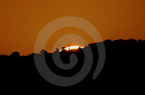 The Big Sunset Royalty Free Stock Photography - Image: 2020517