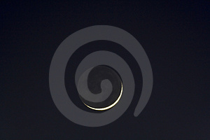 Scythe of Moon Stock Photography