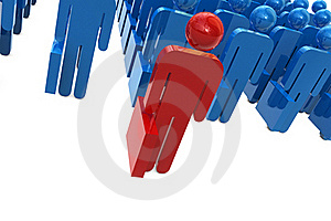 Business Character On Front Royalty Free Stock Image - Image: 20200416
