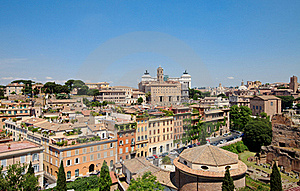 Panoramic View Central Part Of Rome Royalty Free Stock Photos - Image: 20201858