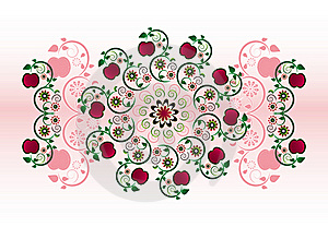 Horizontal Ornament With Flower Stock Photography - Image: 20207452