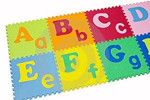 Colorful Alphabet Puzzle. Royalty Free Stock Photo - Image: 20224315
