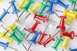 A Colorful Thumb Tack Royalty Free Stock Photo - Image: 20229755