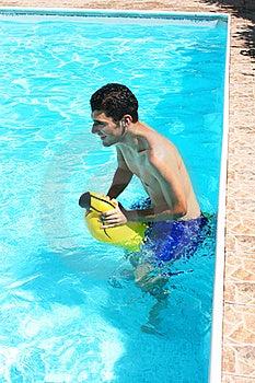 Man In Swimming Pool Stock Image - Image: 20230591
