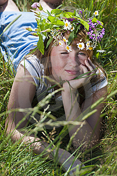 Redhead Girl With Wreath Stock Photography - Image: 20231152